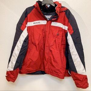Men's Columbia Hooded Red Winter Coat